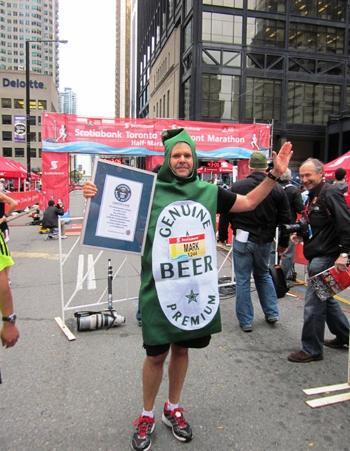 Najszybsza butelka piwa wmaratonie