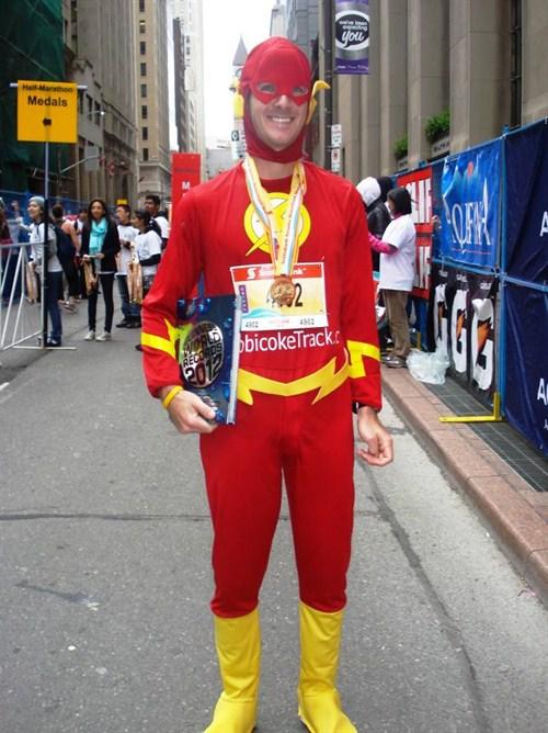 Najszybszy superbohater wmaratonie