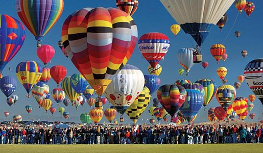 Puszczenie balonów  naczas - rekord Guinessa