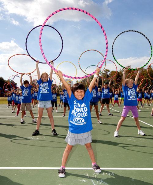 Największy trening z hula hoop