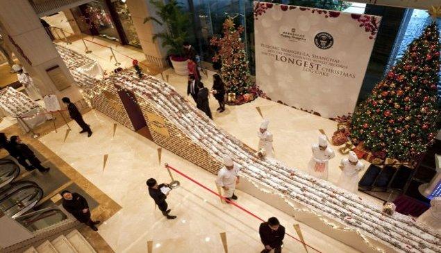 Najdłuższe ciasto świąteczne - rekord Guinessa