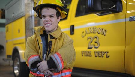 Najniższy strażak świata