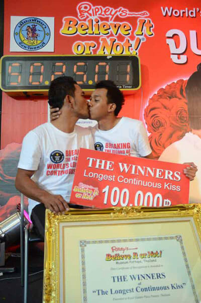 Najdłuższy pocałunek – rekord Guinessa