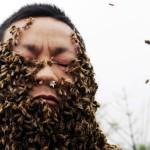Tysiące pszczół nanagim ciele