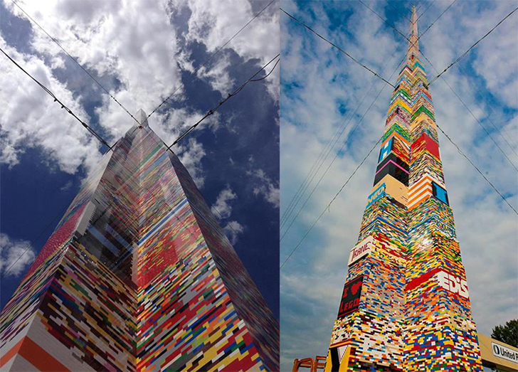 Najwyższa wieża zklocków Lego - rekord Guinessa
