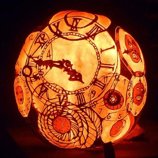 Dynia - zegar