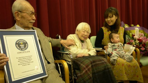 Misao Okawa - najstarsza osoba naświecie