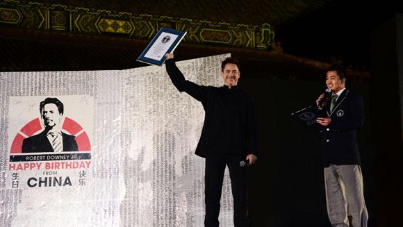 Robert Downey Jr - rekord Guinessa