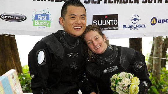 Najgłębszy ślub podwodą