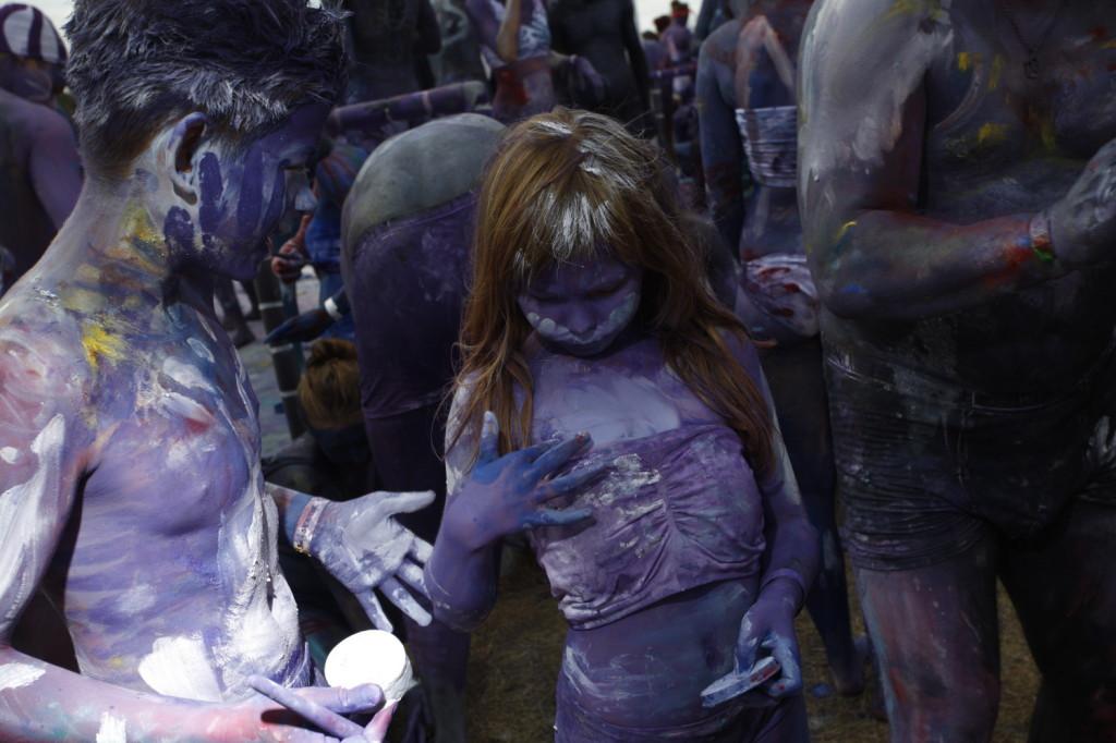 Przystanek Woodstock 2014 - malowanie ciała