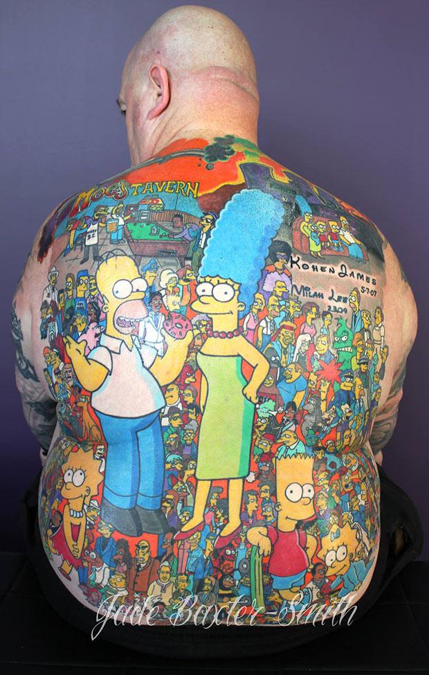 Najwięcej tatuaży zpostaciami zjednego serialu animowanego - rekord Guinessa