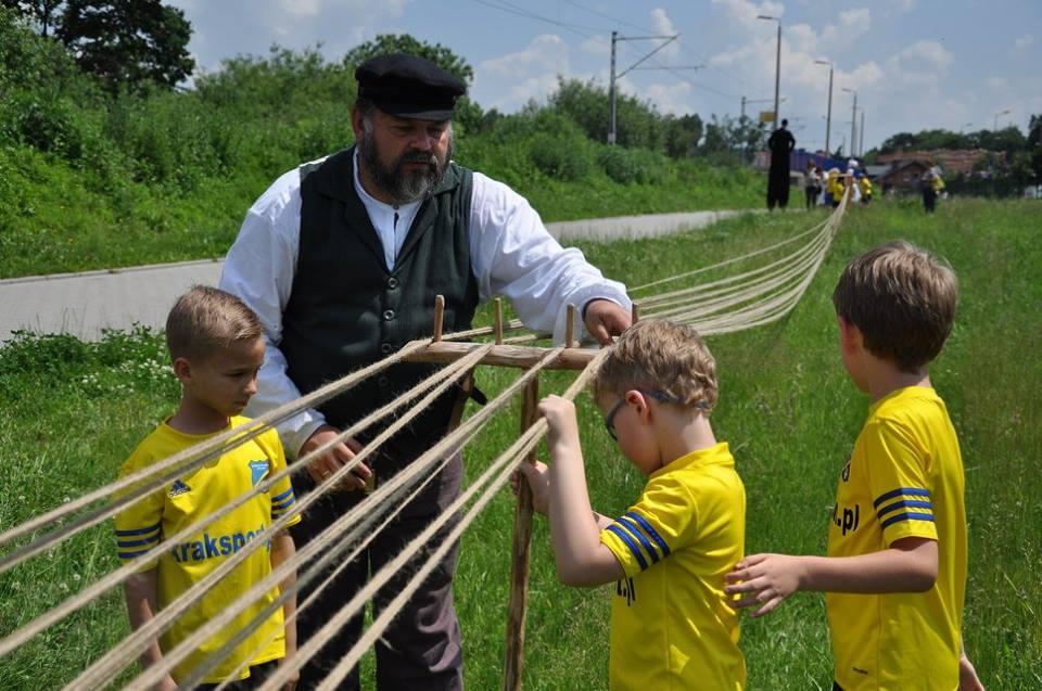Skręcanie liny - rekord Polski