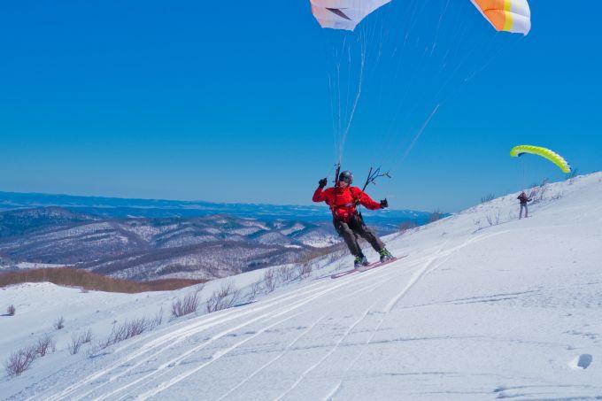Snowgliding - rekord Polski
