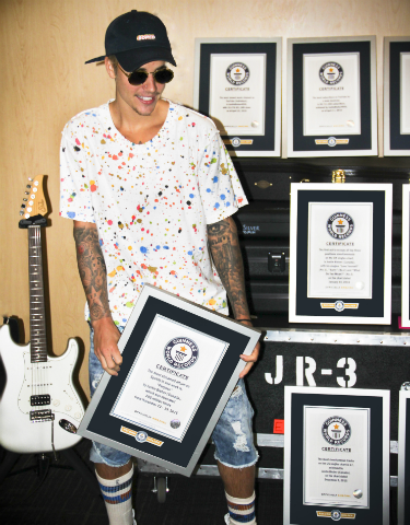 Justin Bieber - rekordy Guinnessa
