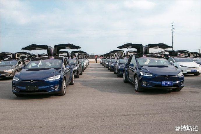 Największa parada samochodów marki Tesla