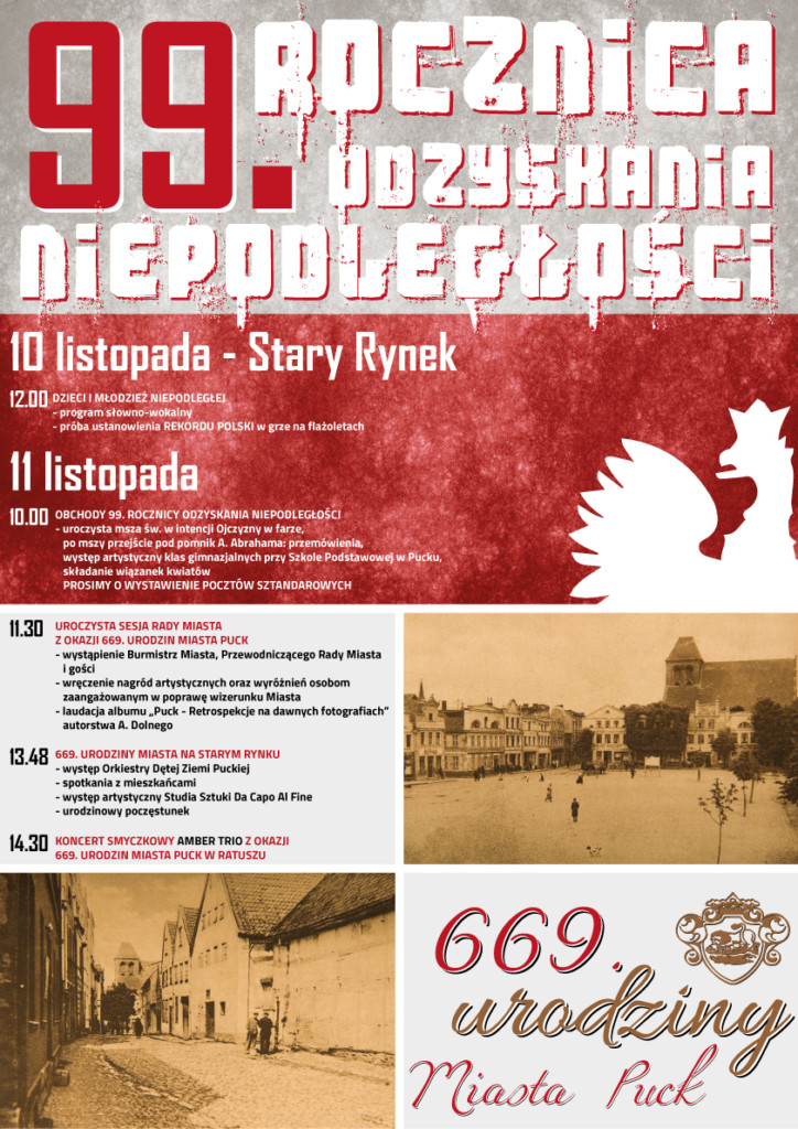 Rekord Polski podczas Dnia Niepodległości w Mieście Puck - plakat