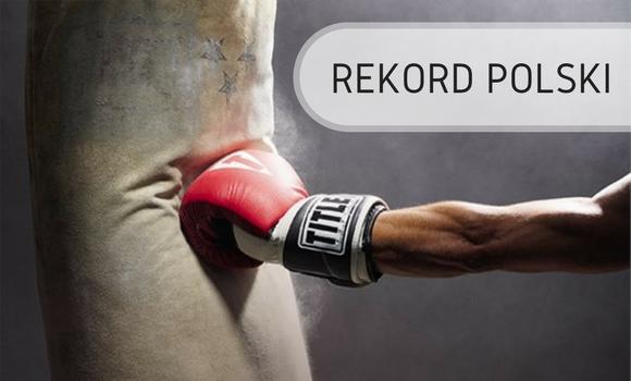 Uderzanie w worek - Rekord Polski