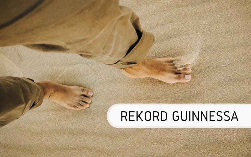 Największy bosy spacer - rekord Guinnessa