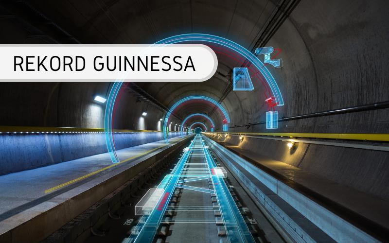 Rekord Guinnessa - najdłuższy tunel kolejowy