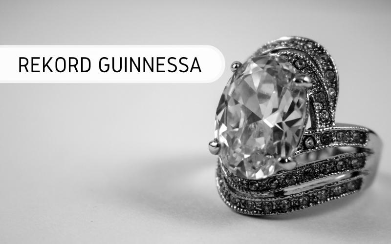 Rekord Guinnessa - największy srebrny pierścionek