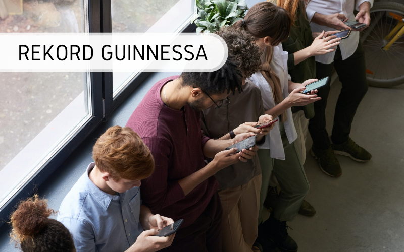 Rekord Guinnessa - pisanie na telefonie