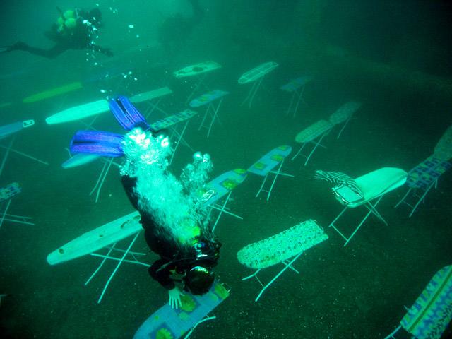 Prasowanie podwodą - Rekord