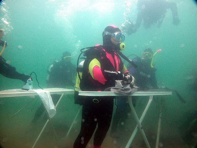 Prasowanie podwodą
