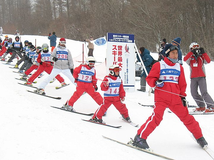 Najdłuższa kolejka narciarzy – rekord Guinessa