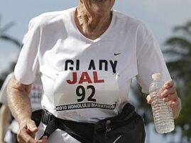 Najstarsza kobieta w maratonie