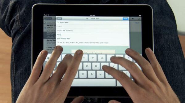 Rekord Guinessa w pisaniu na iPadzie