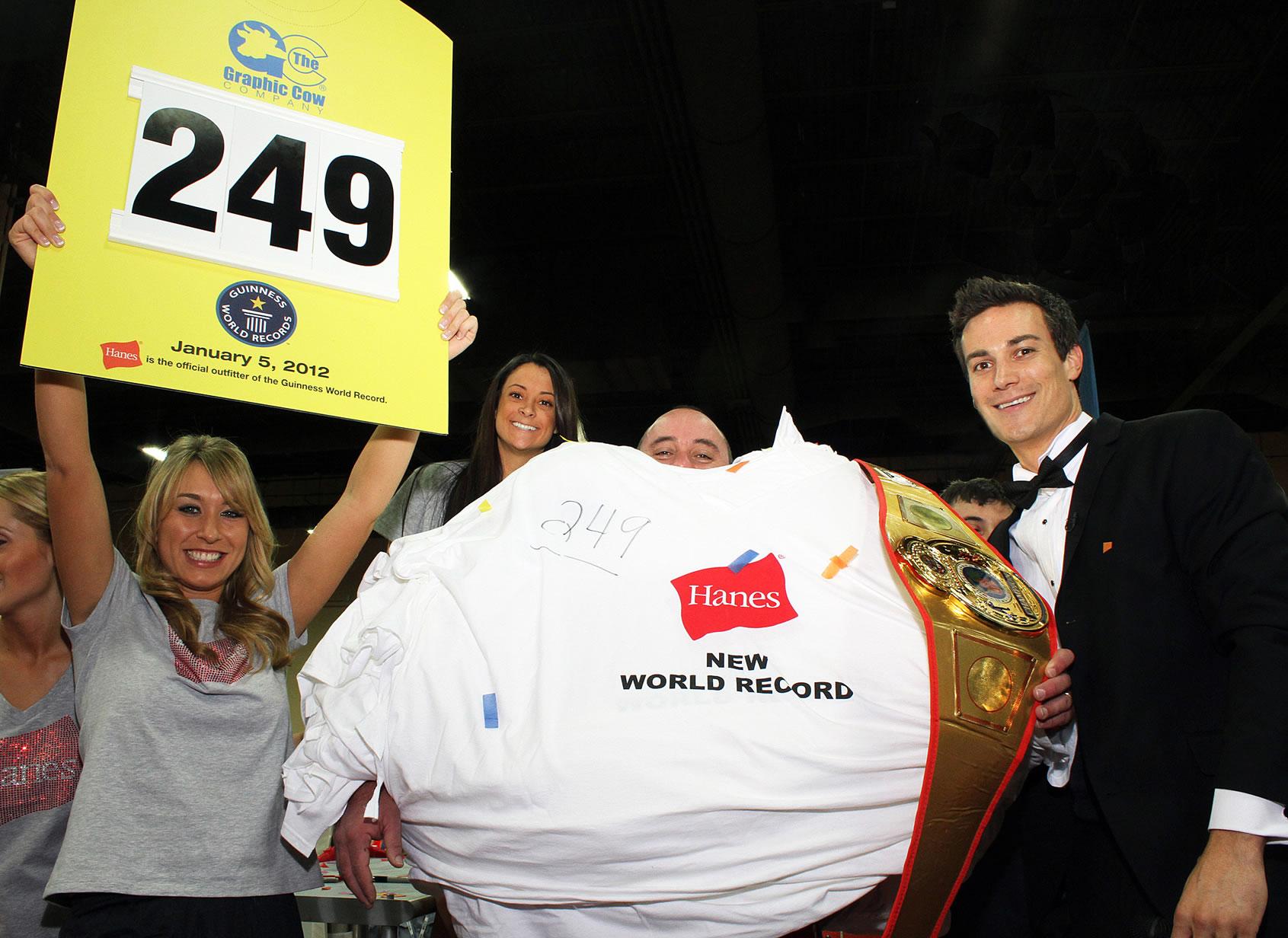 Najwięcej koszulek założonych jednocześnie - rekord Guinessa