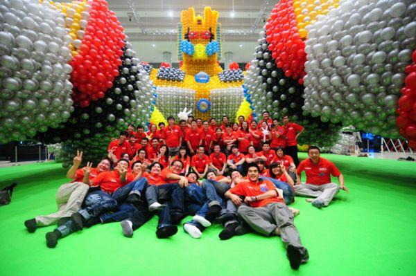 Największa rzeźba zbalonów - rekord Guinessa