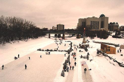 Najdłuższe naturalne lodowisko - Winnipeg