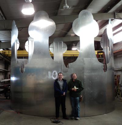 Największa rzeźba zaluminium