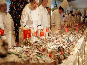 Najdłuższy kawałek ciasta świątecznego - rekord Guinessa