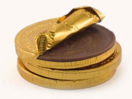 Największa czekoladowa moneta