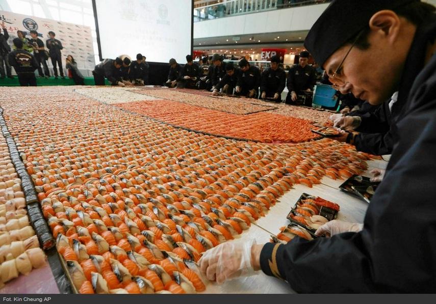 Największa mozaika zsushi - rekord Guinessa