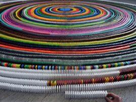 Największa spirala z domino