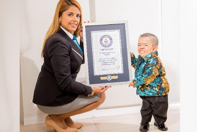 rekord guinnessa dla najmniejszego człowieka