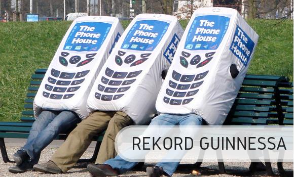 Rekord Guinnessa - telefony