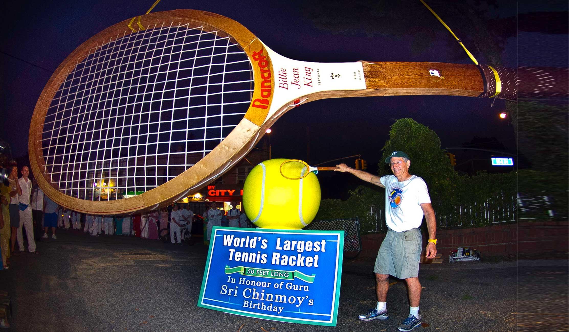 Największa rakieta tenisowa naświecie