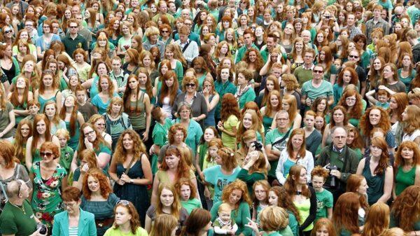Największe zgromadzenie rudowłosych