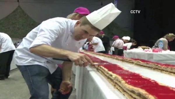 Najdłuższe ciasto zkremem - rekord Guinessa