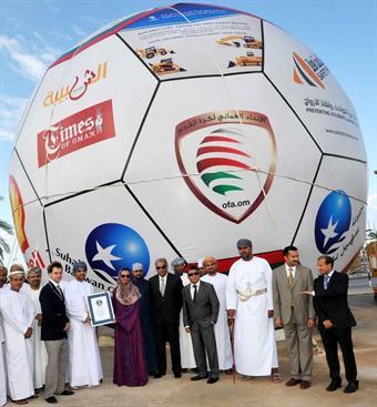 Ogromna piłka – rekord w piłce nożnej