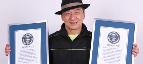 Rekordy Guinessa na Jackie Chana