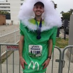 Najlepszy czas w maratonie dla człowieka przebranego za nabiał