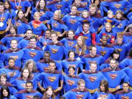 Najwięcej osób w stroju Supermana