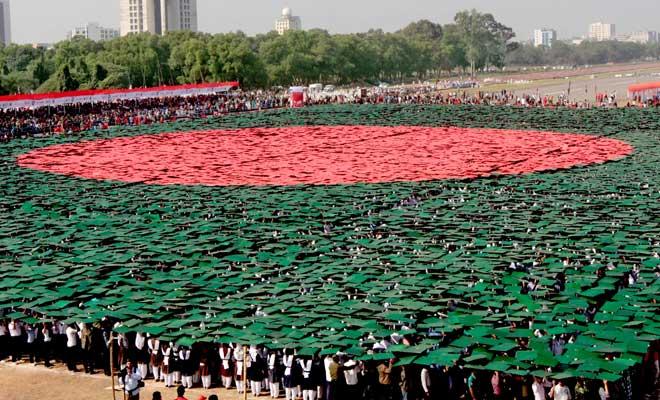 Największa flaga zludzi