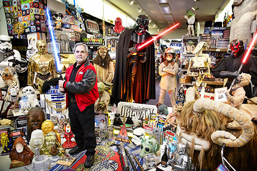 Największa kolekcja przedmiotów związanych zsagą Star Wars