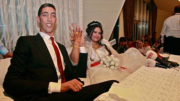 Najwyższy człowiek świata wziął ślub
